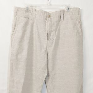 Banana Republic Cotton Pinstripe Pants 33/34